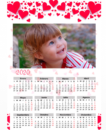 Calendarios poster A3