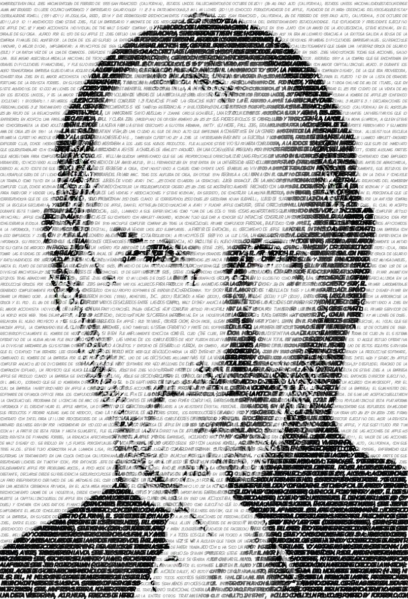 Steve Jobs en FotoTexto