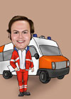 Caricaturas de Ambulanciero