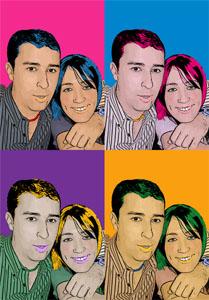 Regalo: Un Andy Warhol 2 personas 4 viñetas Vertical Impreso en un lienzo para alguien de MEDINA DEL CAMPO