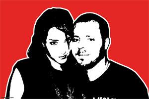 Regalo: Un Stencil Impreso en un lienzo con un bastidor para alguien de madrid