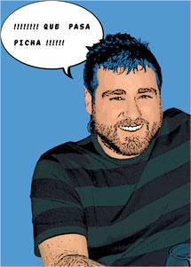 Regalo: Un Pop Art Comic 1 persona Impreso en un lienzo con un bastidor para alguien de Orihuela