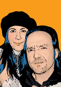 Regalo: Un Pop Art Comic 2 personas Impreso en un lienzo con un bastidor para alguien de Pozuelo de Alarcón