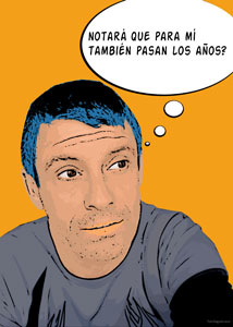 Regalo: Un Pop Art Comic 1 persona Impreso en un lienzo para alguien de Aleixar