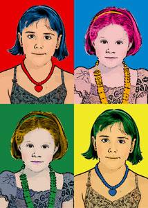 Regalo: Un Andy Warhol 2 personas 4 viñetas Vertical En un archivo JPG (Ya lo imprimiré yo) para alguien de Burgos