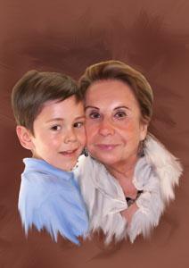 Regalo: Un Cuadros al Oleo de 2 personas Impreso en un lienzo con bastidor de 30x45 cm Normal