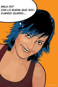 Regalo: Un Pop Art Comic 1 persona Impreso en un lienzo con un bastidor para alguien de Premià de Dalt