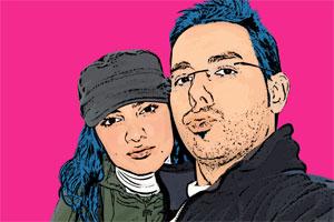 Regalo: Un Andy Warhol 2 personas 1 viñeta Impreso en un lienzo con un bastidor para alguien de Colmenar Viejo