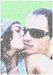 Regalo: Un FotoTexto Impreso en un lienzo con un bastidor para murchante