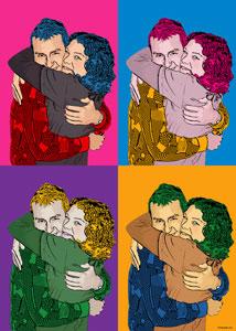Regalo: Un Andy Warhol 2 personas 4 viñetas Vertical Impreso en papel brillo para alguien de madrid