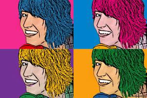 Regalo: Un Andy Warhol 1 persona 4 viñetas Vertical Impreso en papel brillo para alguien de Alcorcón