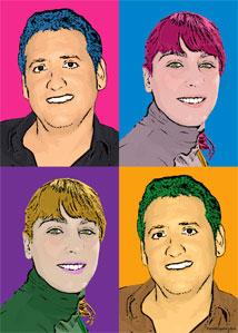 Regalo: Un Andy Warhol 2 personas 4 viñetas Impreso en un lienzo con bastidor para alguien de ILLESCAS