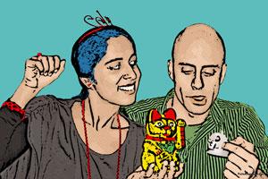 Regalo: Un Pop Art Comic 2 personas En una lámina enmarcada en aluminio para Madrid
