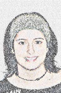 Regalo: Un FotoTexto Impreso en un lienzo con bastidor para alguien de Barcelona