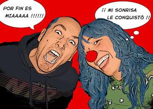 Regalo: Un Pop Art Comic 2 personas En una lámina enmarcada en aluminio para alguien de MADRID