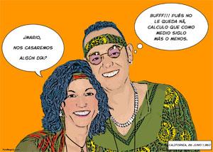 Regalo: Un Pop Art Comic 2 personas Impreso en un lienzo con bastidor para alguien de VALDEMORO