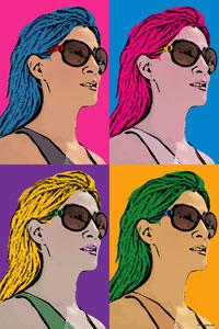 Regalo: Un Andy Warhol 1 persona 4 viñetas Vertical Impreso en papel brillo para alguien de Villaviciosas de Odon