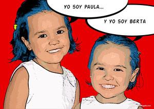 Regalo: Un Pop Art Comic 2 personas Impreso en Madera Flotante para alguien de Cádiz