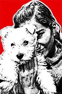 Regalo: Un Stencil Impreso en un lienzo con un bastidor para alguien de Las Matas