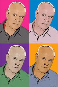 Regalo: Un Andy Warhol 1 persona 4 viñetas Vertical Impreso en un lienzo con un bastidor para alguien de Madrid