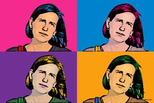 Regalo: Un Andy Warhol 1 persona 4 viñetas Vertical Impreso en papel brillo para alguien de Barcelona