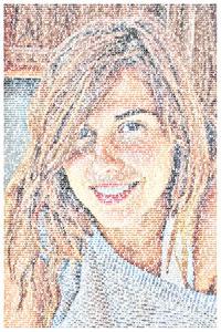 Regalo: Un  Impreso en un lienzo con un bastidor para alguien de Barcelona