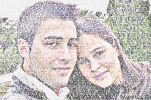 Regalo: Un FotoTexto Impreso en un lienzo con un bastidor para alguien de Valencia