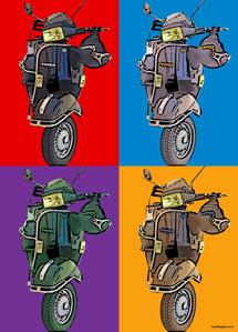 Regalo: Un Andy Warhol 1 persona 4 viñetas En un archivo JPG (sin impresión)