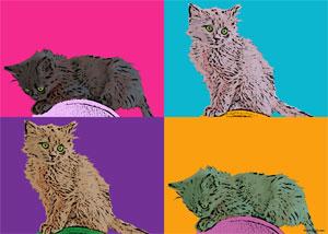Regalo: Un Andy Warhol 2 personas 4 viñetas Vertical Impreso en un lienzo con un bastidor para alguien de Madrid