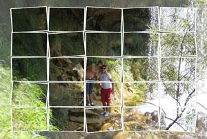 Regalo: Un FotoMontaje En una lámina enmarcada en aluminio para alguien de Valjunquera
