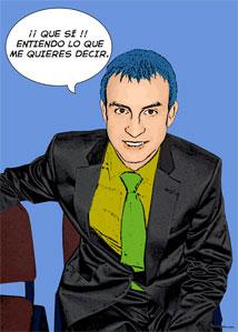 Regalo: Un Pop Art Comic 1 persona Impreso en un lienzo con bastidor para alguien de teruel