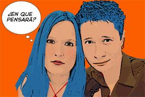 Regalo: Un Pop Art Comic 2 personas Impreso en un lienzo con un bastidor para alguien de Polanco