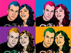 Regalo: Un Andy Warhol 2 personas 4 viñetas Foto lienzo Eco Rectangular para alguien de moraleja de enmedio