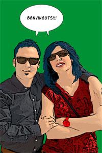 Regalo: Un Pop Art Comic 2 personas Foto lienzo Eco Rectangular para alguien de cassà de la selva