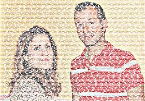 Regalo: Un FotoTexto Impreso en un lienzo para alguien de Badajoz