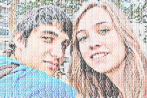 Regalo: Un FotoTexto Impreso en papel brillo para alguien de Villaobispo de las regueras