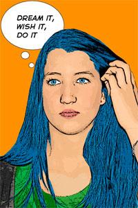Regalo: Un Pop Art Comic 1 persona Foto lienzo Eco Rectangular para Platja d'Aro
