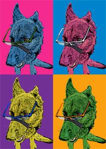 Regalo: Un Andy Warhol 1 persona 4 viñetas Impreso en un lienzo con bastidor de 50x70 cm Envolvente